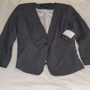 NWT-Kensie Blazer Jacket Charcoal Gray